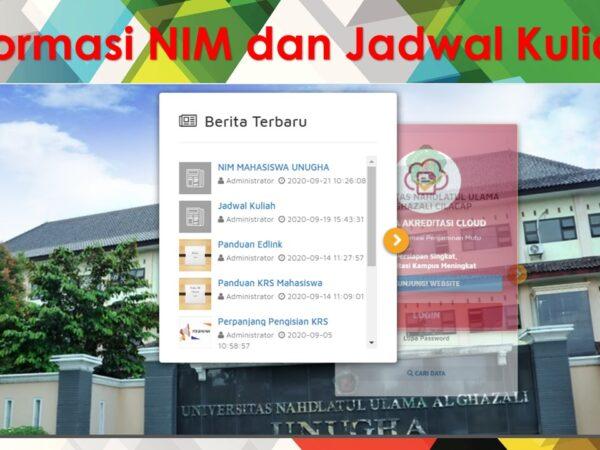 Informasi NIM dan Jadwal Kuliah Bagi Mahasiswa Baru 2020